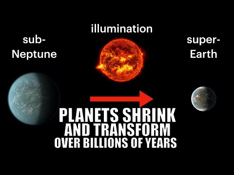Planets Shrink And Transform Dramatically Over Billions of Years