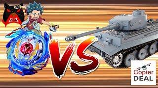 בייבלייד נגד טנק! קרב כזה עוד לא ראיתם!