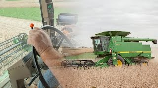 how to operate a combine john deere 9510