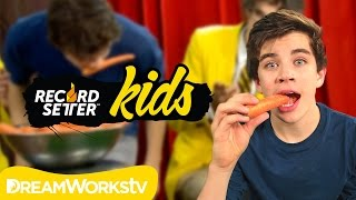 Hayes Grier's Carrot Challenge | RECORDSETTER KIDS