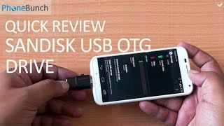 SanDisk Ultra Dual USB OTG Drive Quick Review