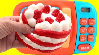 Strawberry Cake Play Doh Microwave Learn Colors for Children RL