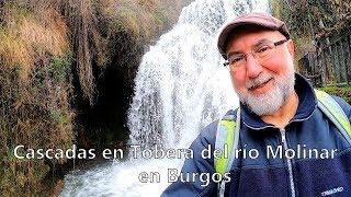 Cascadas en Tobera del río Molinar en Burgos