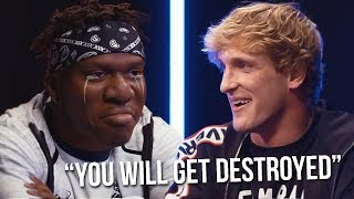 Logan Paul saying he will DESTROY KSI Compilation **leaked Interview Footage**