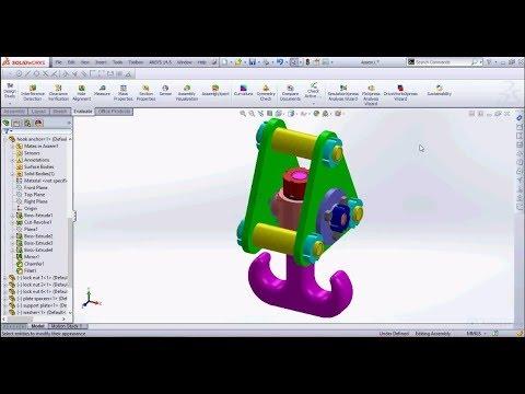 Solidworks Crane hook assembly design tutorial part 2