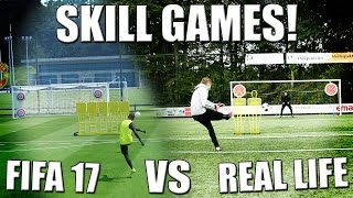 SKILL GAMES! FIFA 17 VS REAL LIFE!! NEDERLANDS(Over deze video: voetbal challenges, skillgames in het echt, FIFA 17 vs real life, in het Nederlands / Dutch. ▸ Bij de 2500 likes komt er een deel 2!! ▸ Instagram ..., 2016-10-04T13:00:03.000Z)