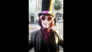 Willy Wonka Johnny Dep in Hollywood