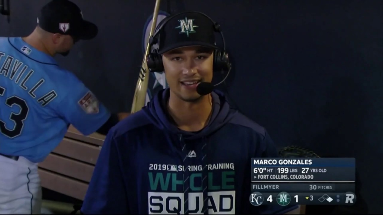 Marco Gonzales on Opening Day Start 2019-03-11