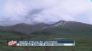 Hikers struck by lightning