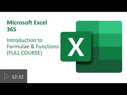 Introduction to Formulae and Functions in Excel (FULL COURSE)