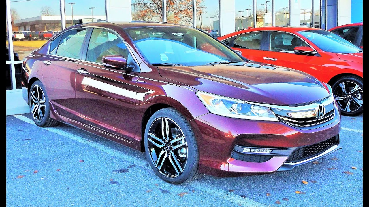 2016 honda accord sport start up review and full tour youtube. Black Bedroom Furniture Sets. Home Design Ideas