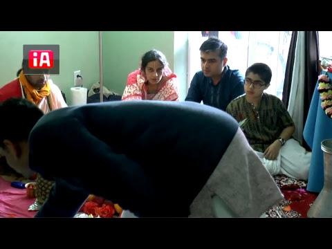 Deity installation at Manoj Prabhu's home