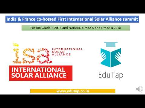 India & France co host International Solar Alliance Summit- for RBI and NABARD 2018