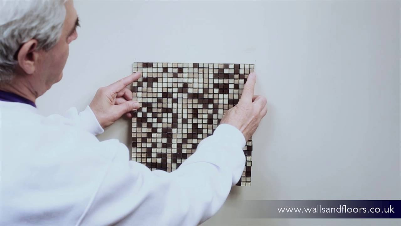 how to use self adhesive smart mosaic tiles