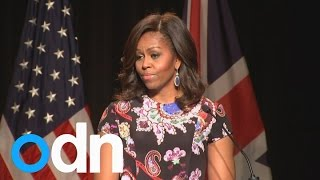 """We need more girls to lead in science, education and politics"" says Michelle Obama"