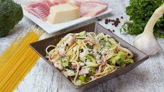 Спагетти с курицей и брокколи - Рецепты от Со Вкусом