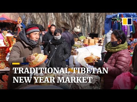 Traditional Market Opens For Tibetan New Year Losar Preparations