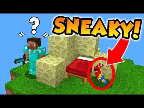PLAYING AS A PARROT IN MINECRAFT BED WARS!