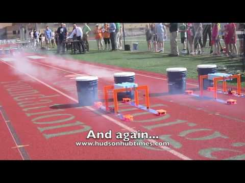 Hudson students learn about physics building with BLOODHOUND model racers