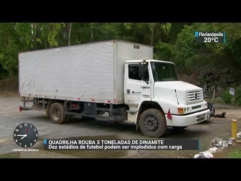 Quadrilha rouba três toneladas de dinamite no interior de São Paulo | SBT Brasil (17/11/17)