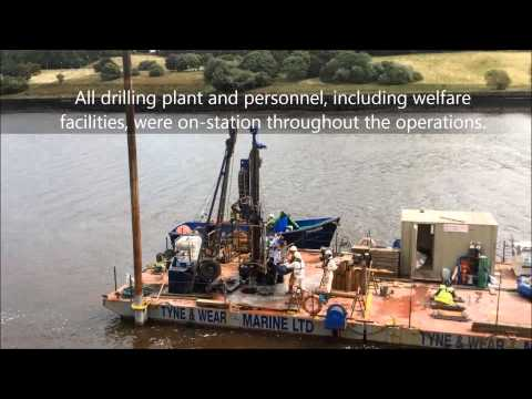 Overwater Drilling on the River Tyne