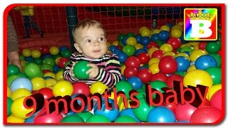 9 months  baby play on playground  Disney princess Anabella Show