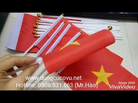 Cờ cầm tay Việt Nam, cờ vẫy cầm tay cho mùa lễ hội tưng bừng www.dungcucovu.net