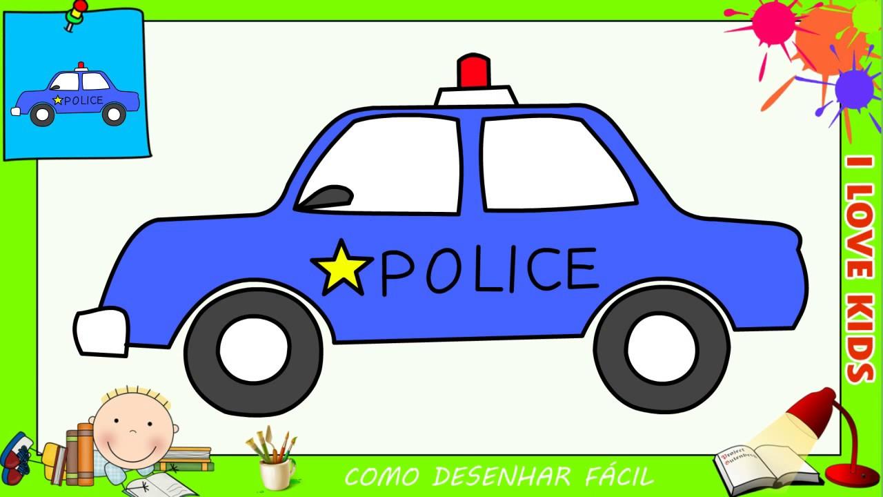 Como Desenhar Um Carro Da Policia Facil Passo A Passo Para