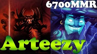 Dota 2 - Arteezy 6700 MMR Plays Shadow Fiend and Storm Spirit - Ranked Match Gameplay