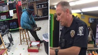Cashier Tells Man His Card Is Declined. 15 Mins Later He's Back With Cop Who Makes 1 Request