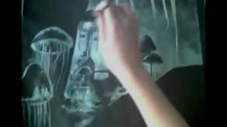 How to draw/paint Blackreach - The Elder Scrolls 5 Skyrim