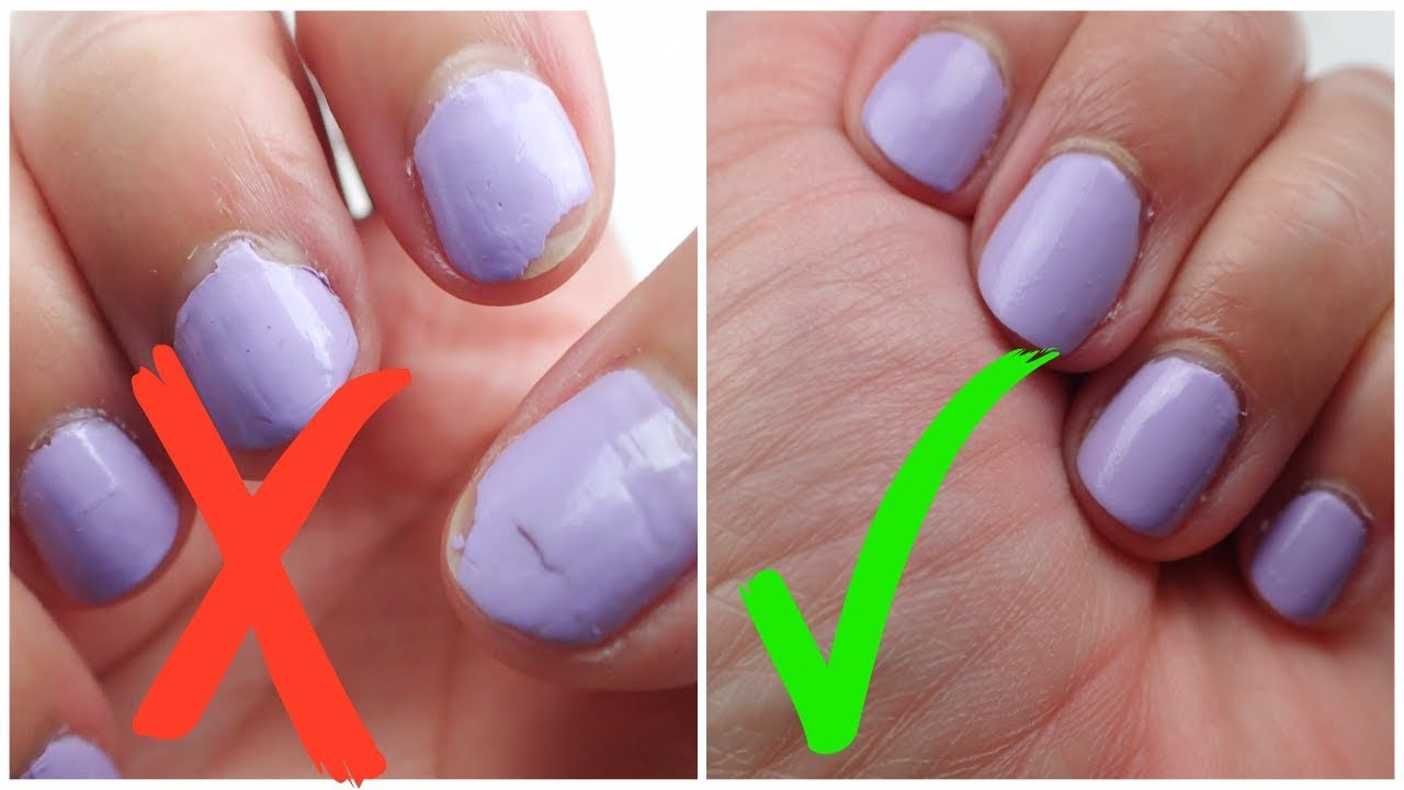 HOW TO PREVENT NAIL POLISH FROM PEELING/CHIPPING| ITZANAILSNBEAUTY ...