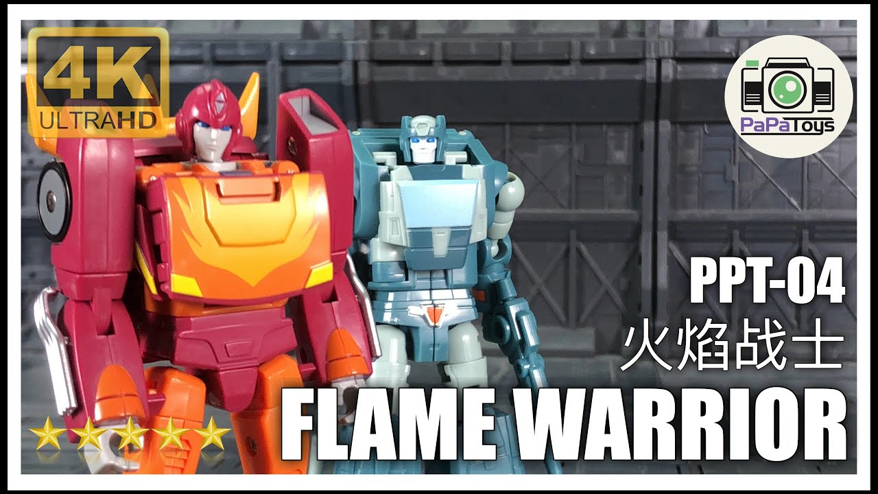 New PAPA Toys Transformers PPT-04 Flame Warrior Hot Rod In Stock