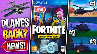 Cobra VBucks Pack, Planes Returning, Helicopter Path & More! (Fortnite News)