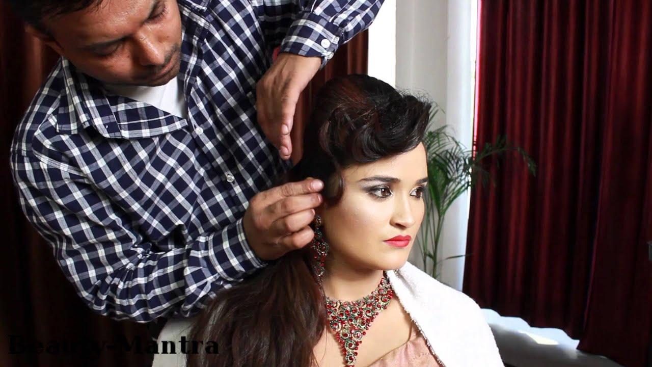Mehndi Hairstyles With Tikka : Bridal hairstyle jura with arabic touch tikka & pasaa youtube