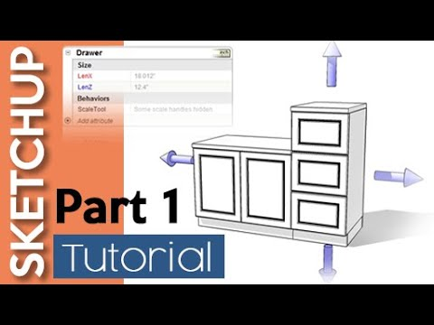 Sketchup Dynamic Components Kitchen 1 2 Youtube