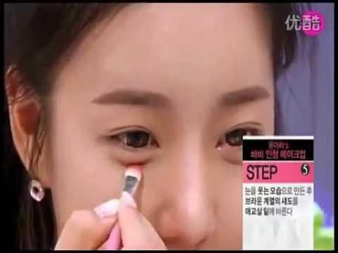 韩国女孩最新化妆技巧-(芭比娃娃妆)-女生必看@@