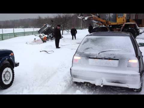 Бензовоз и Погрузчик ч.2, Беларусь, ураган в марте 2013