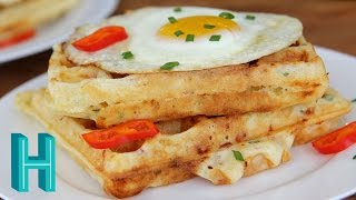 Ham And Cheese Waffles |  Hilah Cooking