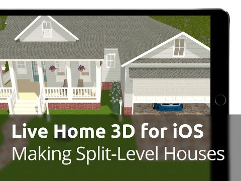 Live Home 3D for iOS / iPadOS Tutorials - Making Split Level Houses