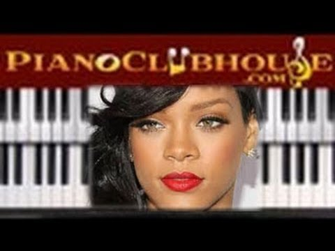 🎹  RIHANNA - DIAMONDS (Take #2 easy piano tutorial lesson w/ lyrics)