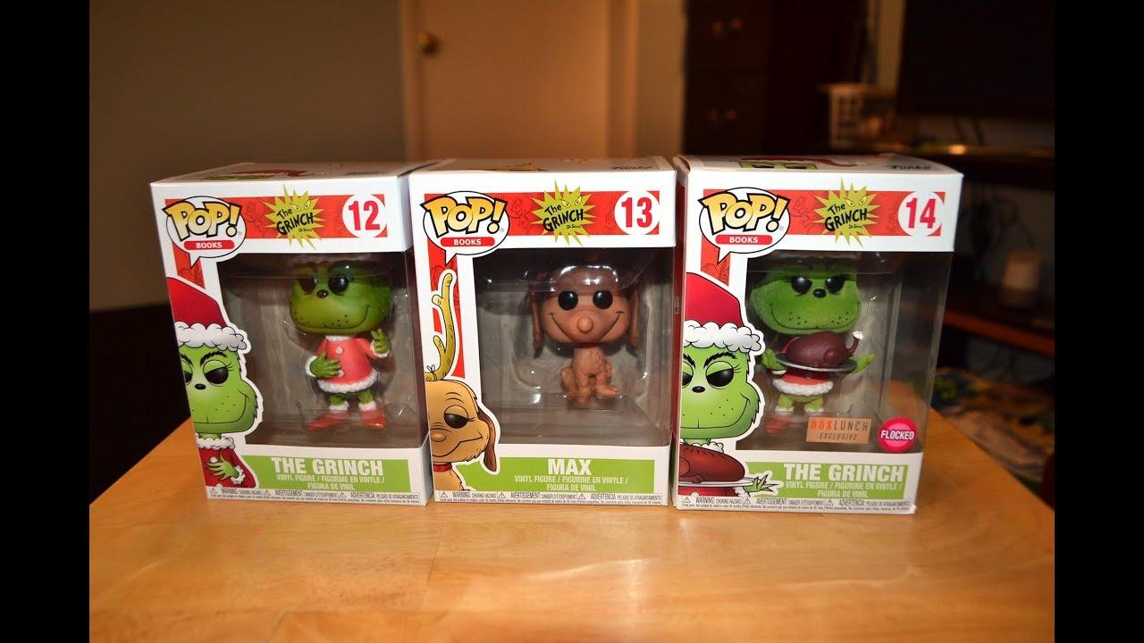 de874482d2d Funko Pop Dr. Seuss HOW THE GRINCH STOLE CHRISTMAS FIGURE COLLECTION  unboxing   review!