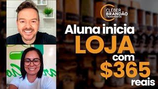 Ela iniciou uma loja de Produtos Naturais com R$ 365,00 e investiu o dinheiro do Auxílio do Governo