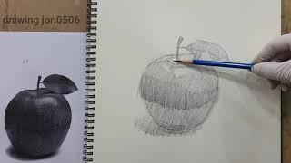 왕초보를 위한 사과 그리는 방법/ 미술수업공개