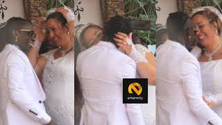 Patapaa & German Wife Shares Passionate Kiss At Wedding Reception