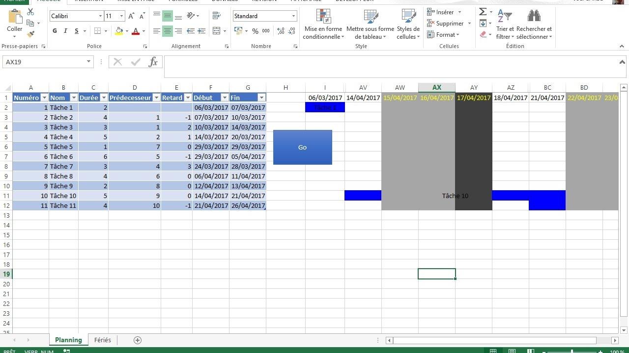 Diagramme de gantt avec excel prise en compte jours ouvrs et diagramme de gantt avec excel prise en compte jours ouvrs et fris ccuart Choice Image