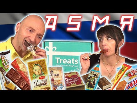 ASMR Artists Try Russian Food | Unboxing Try Treats Box