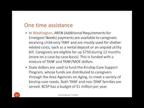 Webinar: Improving Grandfamilies Access to Temporary Assistance for Needy Families (TANF)