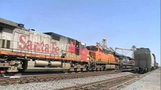 BNSF Action Galore, Forigen Power, Grain Train: Hanford, CA
