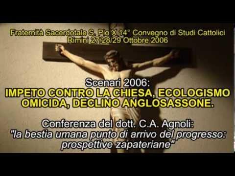 La bestia umana punto di arrivo del progresso..ecologismo omicida -  C.A. Agnoli